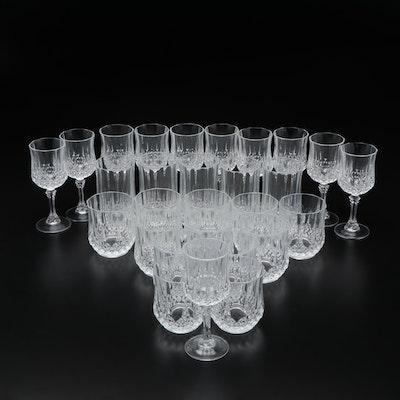 "Cristal d'Arques ""Longchamp"" Glass Stemware and Cocktail Glasses"