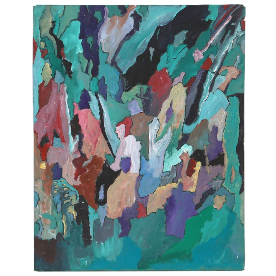 Robert W. Hasselhoff Abstract Mixed Media Painting