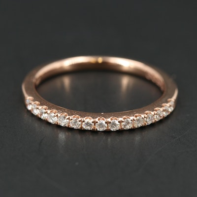 EFFY 14K ROSE GOLD DIAMOND RING