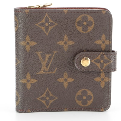 Louis Vuitton Compact Zip Wallet in Monogram Canvas