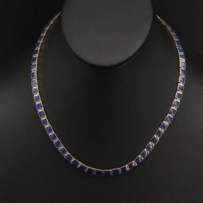 18K Lapis Lazuli Riviére Necklace