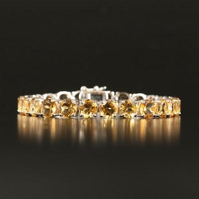 Sterling Citrine Line Bracelet