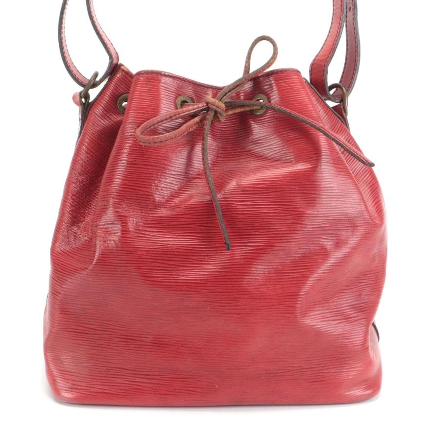 Louis Vuitton Petite Noé Bag in Red Epi Leather