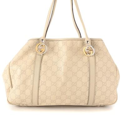 Gucci Twins Guccissima Leather Shoulder Tote