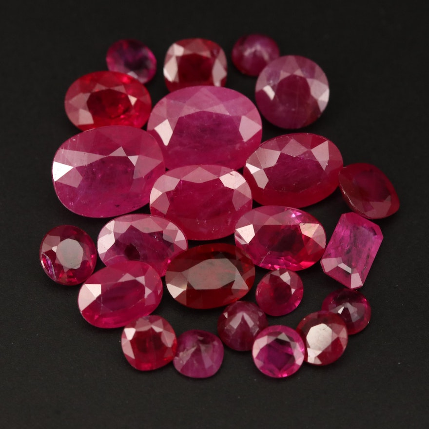 Loose 19.11 CTW Mixed Faceted Ruby