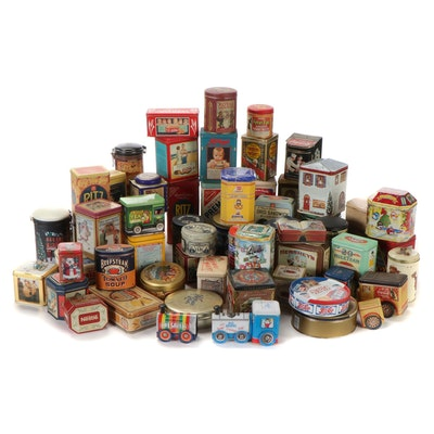 Reproduction Branded Biscuit and Other Food Tins, Mid to Late 20th Century