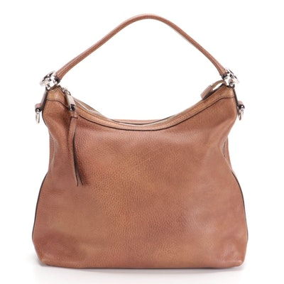 Gucci Miss GG Hobo Bag in Brown Textured Leather