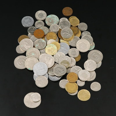 Collection of International Coins, Mid to Late 20th Century