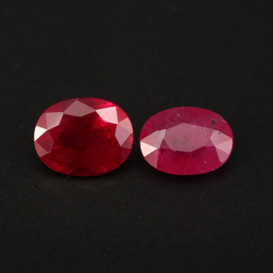 Loose 3.48 CTW Oval Faceted Ruby