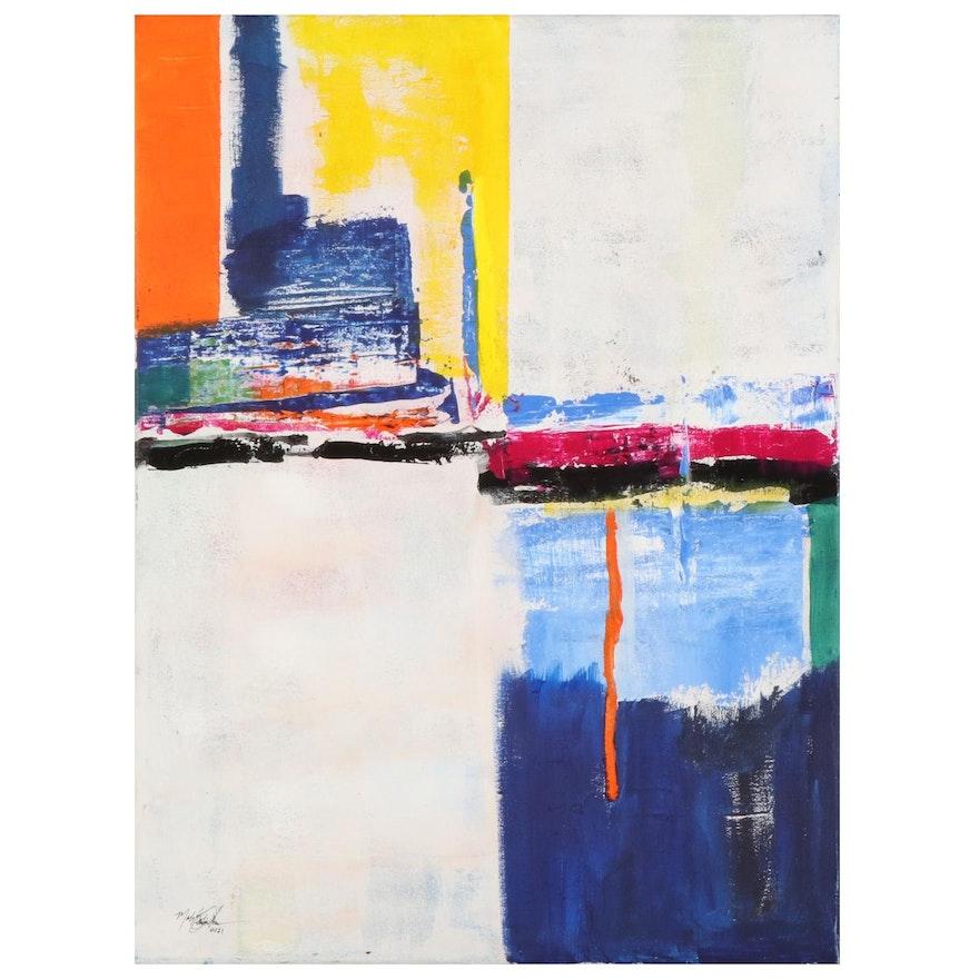 MahLeah Cochran Abstract Acrylic Painting, 2021