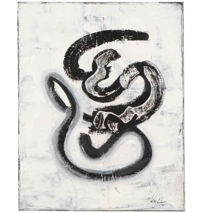 MahLeah Cochran Abstract Acrylic Painting, 2018