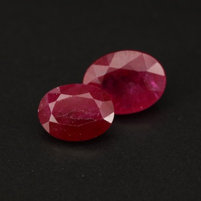 Loose 4.16 CTW Oval Faceted Ruby