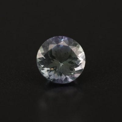 Loose 1.36 CT Round Faceted Tanzanite