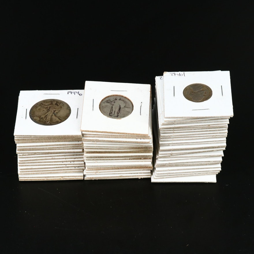 Large Assortment of Vintage U.S. Silver Coins