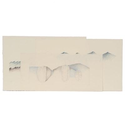 Sherrill Eskew Massey Surreal Mixed Media Drawings