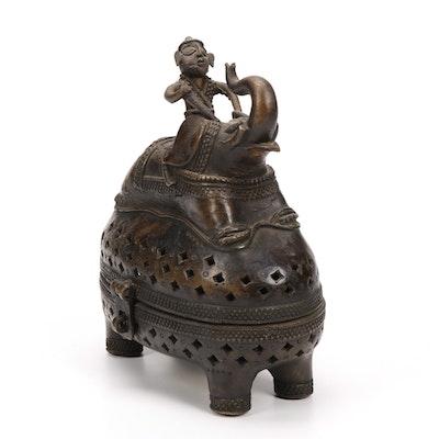 Handcrafted Indian Figural Bronze Censer
