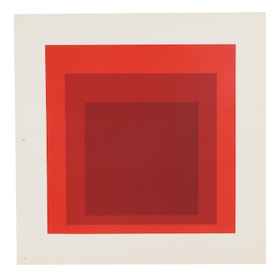 Lithograph Bookplate After Josef Albers