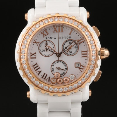 Sonia Britton for Brilliante Swarovski Crystal and Ceramic Wristwatch