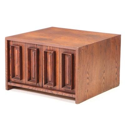 Dillingham Mid Century Modern Chestnut Side Cabinet