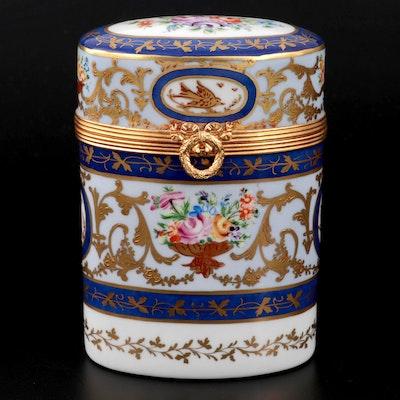 French Le Tallec for Saks Fifth Avenue Hand-Painted Porcelain Étui