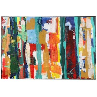 MahLeah Cochran Abstract Acrylic Painting, 21st Century
