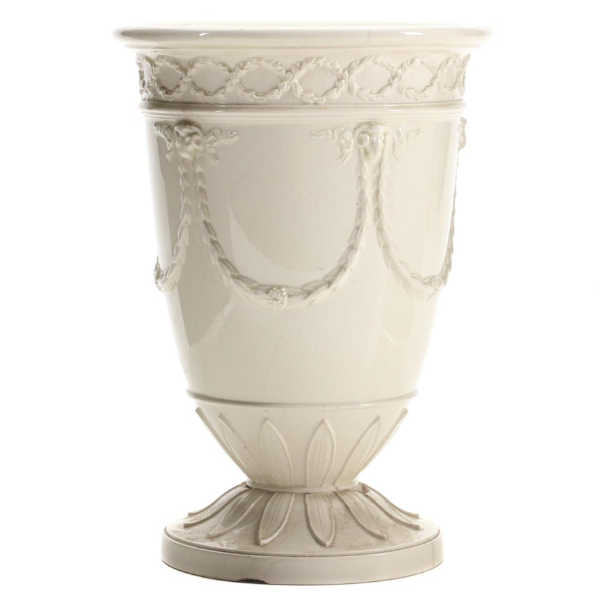 Wedgwood Creamware Vase, Early to Mid 19th Century