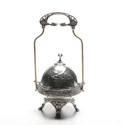 Victorian Silver Plate Caster, Late 19th Century