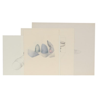 Sherrill Eskew Massey Surreal Graphite Drawings
