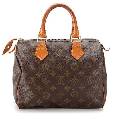 Louis Vuitton Speedy 25 Bag in Monogram Canvas and Vachetta Leather