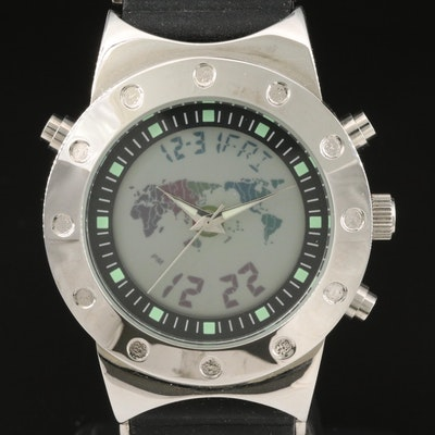 Croton World Time Digi-Ana Wristwatch