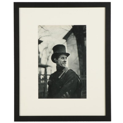"""Henri Cartier Bresson Chimney-Sweeper Rotogravure from """"The Europeans,"""" 1955"""