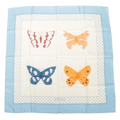 BVLGARI Davide Pizzigoni Butterfly Silk Twill Scarf