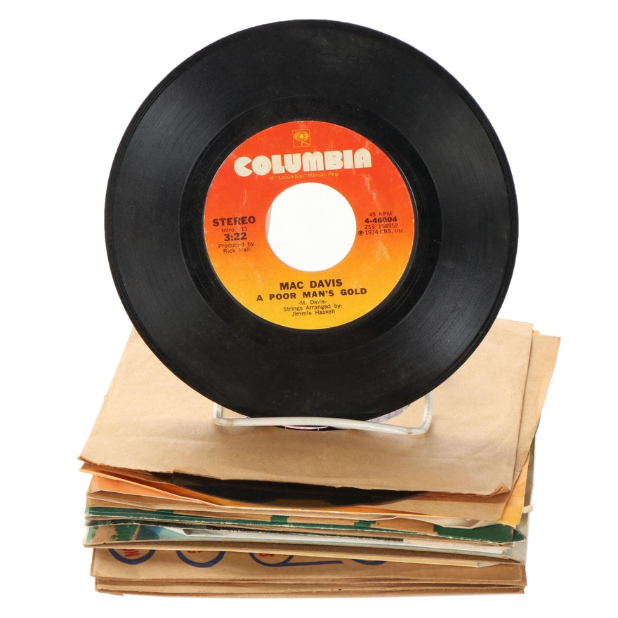 The Impressions, Mac Davis, The Tokens, Billy Storm, Other 45RPM Records