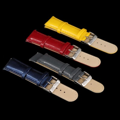 Four Invicta Leather Watch Bands