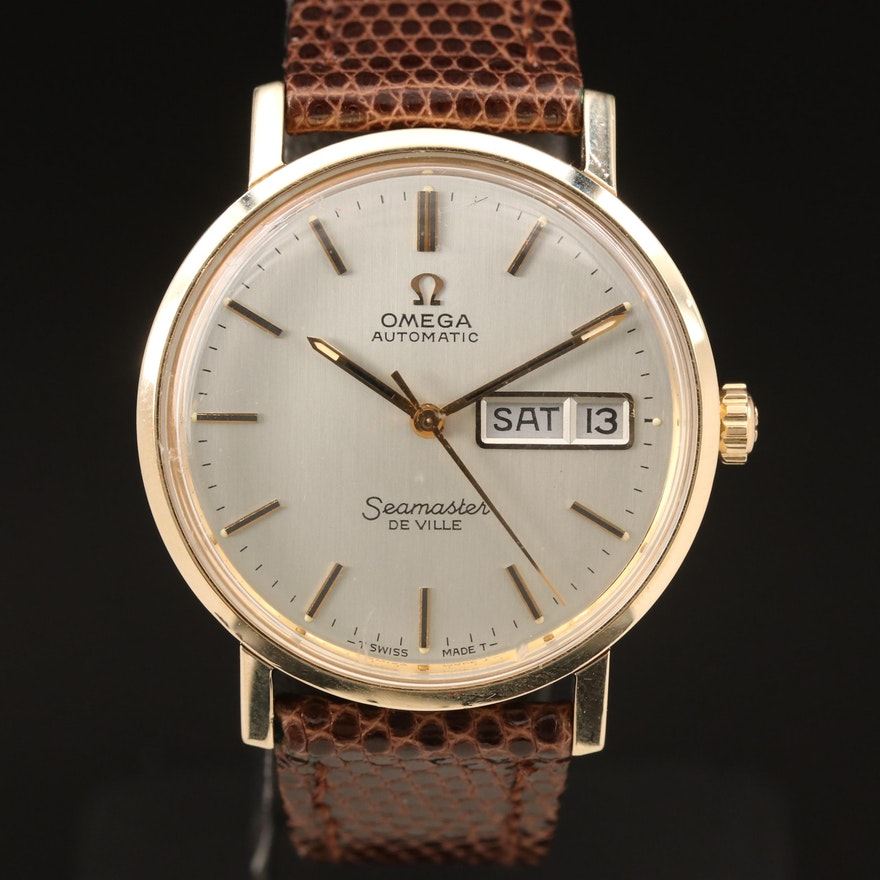 1978 Omega Seamaster DeVille 14K Gold Automatic Wristwatch