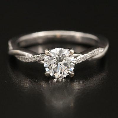 18K 1.15 CTW Diamond Ring with IGI Report