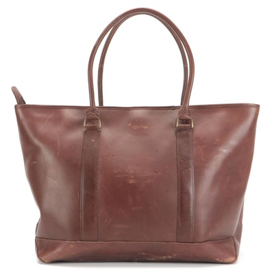 L.L. Bean Tote Bag in Brown Leather
