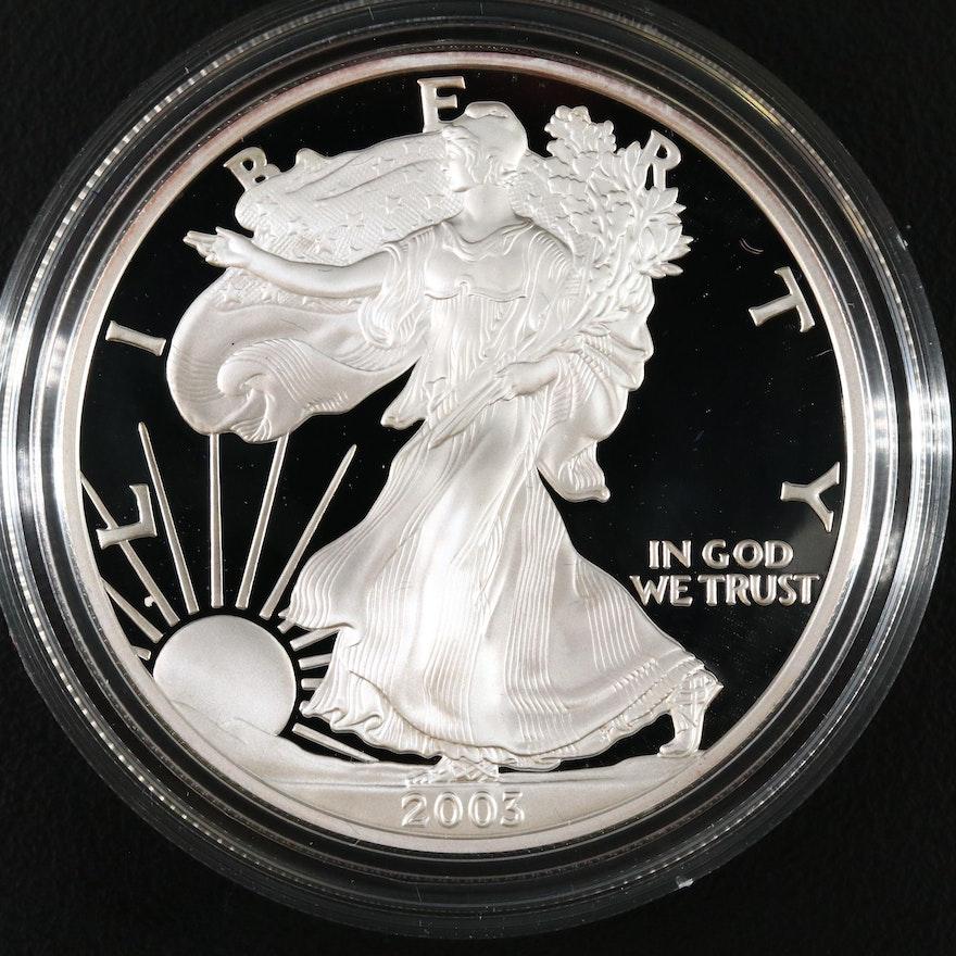 2003-W .999 Fine Proof Silver Eagle Coin