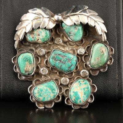Southwestern Sterling Turquoise Pendant