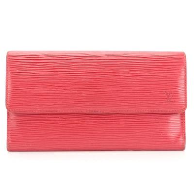 Louis Vuitton Porte-Trésor International Wallet in Castilian Red Epi Leather
