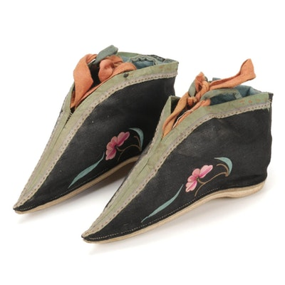 Chinese Embroidered Lotus Shoes