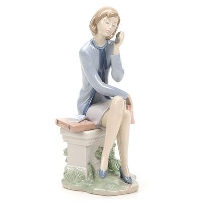 "Lladró ""Always On The Go"" Porcelain Figurine Designed by Marco Antonio Nogueron"