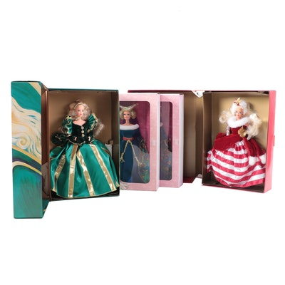 Begowned Barbie Dolls, Including Medieval Lady and Peppermint Princess