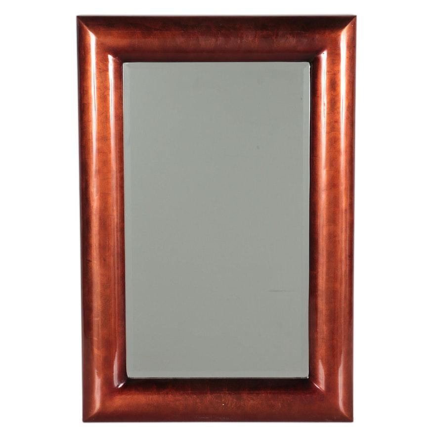The Silky Way Copper Resin Rectangular Wall Mirror, Contemporay