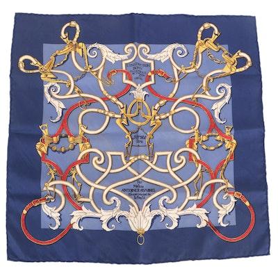 """Hermès """"L'Instruction du Roy"""" Silk Twill Scarf 45"""