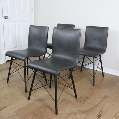 """Four Hands """"Diaw"""" Faux Leather Dining Chairs"""
