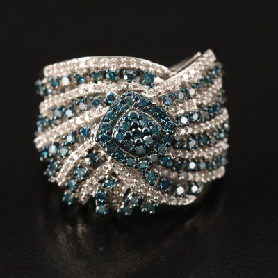Sterling 1.00 CTW Diamond Ring with Turban Design
