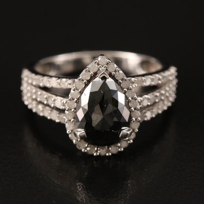 Sterling 2.15 CTW Diamond Ring