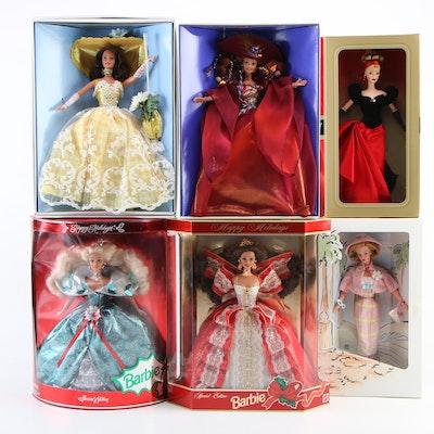 Seasonal Barbies Including Summer Splendor, Special Edition Winter Splendor