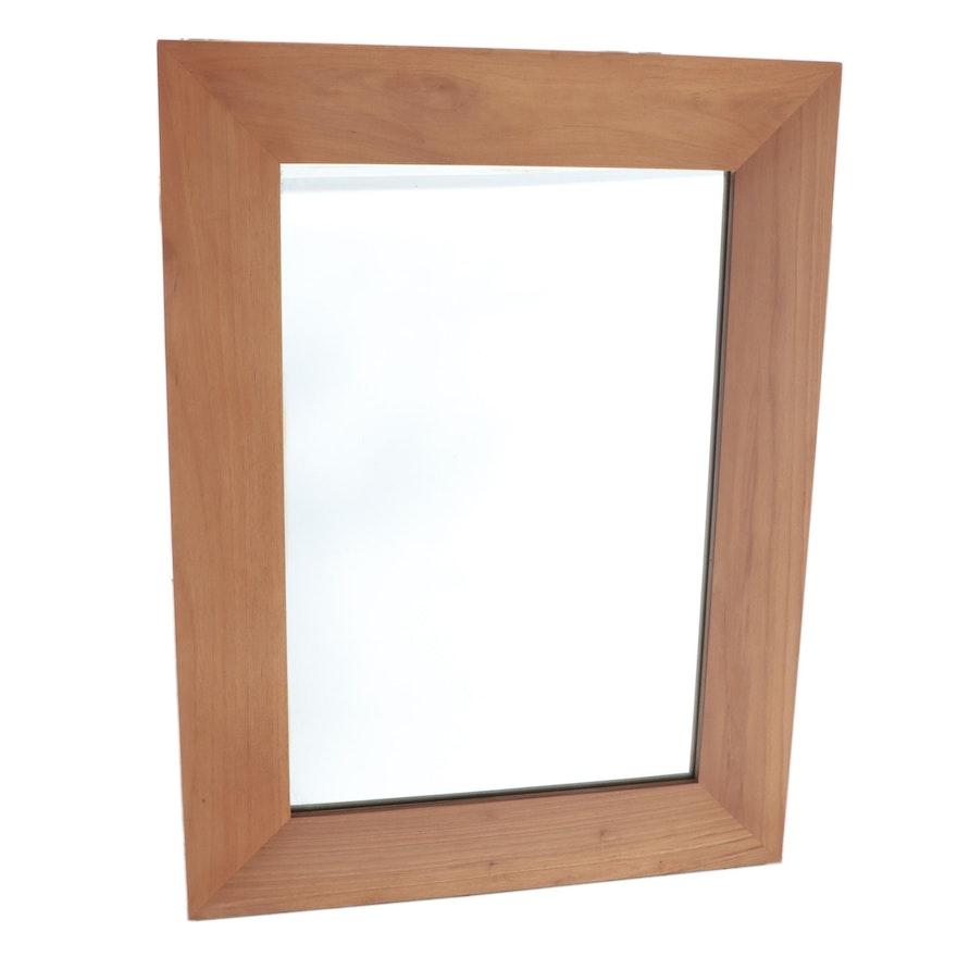 "24"" Natural Finish Teak Vanity Mirror"